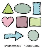 hand draw border  | Shutterstock .eps vector #420810382