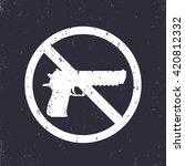 no guns sign with pistol ...