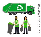 garbage collection. garbage...   Shutterstock .eps vector #420812602