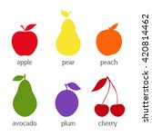 set of fruit icons. silhouettes ... | Shutterstock .eps vector #420814462