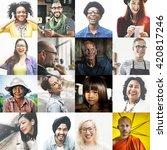 diverse ethnic diversity... | Shutterstock . vector #420817246