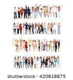 teams over white business idea    Shutterstock . vector #420818875