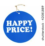 happy price tag | Shutterstock . vector #42081889