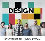 design art creative multicolor... | Shutterstock . vector #420819922
