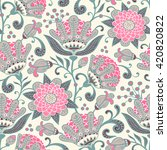 seamless floral pattern. vector ... | Shutterstock .eps vector #420820822