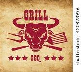 steak house emblems templates....   Shutterstock .eps vector #420823996