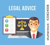 legal advice. lawyer  laptop... | Shutterstock .eps vector #420824008
