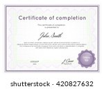 certificate of completion with... | Shutterstock .eps vector #420827632