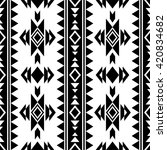 black and white aztec seamless... | Shutterstock .eps vector #420834682