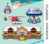 ski resort set | Shutterstock .eps vector #420834712
