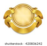 royal gold badge. realistic... | Shutterstock .eps vector #420836242
