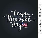 vector happy memorial day card. ...   Shutterstock .eps vector #420836248