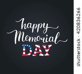 vector happy memorial day card. ... | Shutterstock .eps vector #420836266