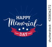 Stock vector vector happy memorial day card national american holiday illustration with usa flag festive 420836272