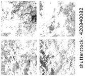 set of grunge textures. vector... | Shutterstock .eps vector #420840082