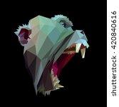 symmetrical vector icon of... | Shutterstock .eps vector #420840616