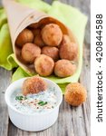 falafel  middle eastern deep... | Shutterstock . vector #420844588