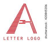 logo a letter. isolated on... | Shutterstock .eps vector #420845206