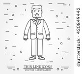 businessman thin line icon. for ...