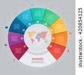 vector pie chart template for... | Shutterstock .eps vector #420854125