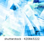 abstract blue mosaic  fantasy... | Shutterstock . vector #420865222