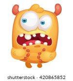cartoon cute monster   Shutterstock .eps vector #420865852