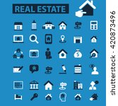 real estate icons | Shutterstock .eps vector #420873496