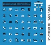 engineering construction icons  | Shutterstock .eps vector #420873688