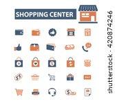 shopping center icons  | Shutterstock .eps vector #420874246