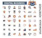 digital marketing icons    Shutterstock .eps vector #420874435