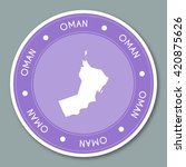 oman label flat sticker design. ... | Shutterstock .eps vector #420875626