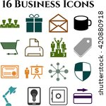 business icon set. 16 icons... | Shutterstock .eps vector #420880918