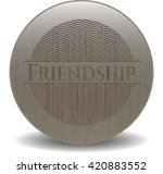 friendship wood signboards | Shutterstock .eps vector #420883552