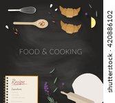 vector cooking time... | Shutterstock .eps vector #420886102