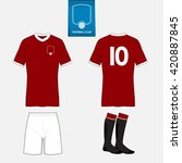set of soccer jersey or... | Shutterstock .eps vector #420887845