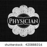 physician chalkboard emblem... | Shutterstock .eps vector #420888316