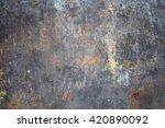 rusty iron plate texture... | Shutterstock . vector #420890092