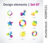 business design elements   icon ... | Shutterstock .eps vector #42089221