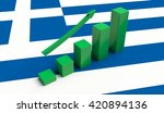arrow pointing up on a flag of... | Shutterstock . vector #420894136