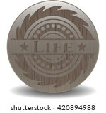 life retro wood emblem   Shutterstock .eps vector #420894988
