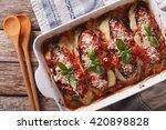 italian eggplant melanzane alla ...   Shutterstock . vector #420898828