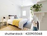 luxury guest bedroom in vintage ... | Shutterstock . vector #420905068