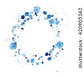 Splattered watercolor circle...