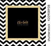 modern chic gold background...   Shutterstock .eps vector #420908938