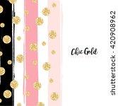 Modern Chic Gold Background...