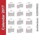 Template Of Calendar For 2017