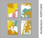 set of artistic creative... | Shutterstock .eps vector #420911665