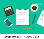 work desk vector illustration...   Shutterstock .eps vector #420912115