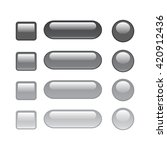 set of web button grey | Shutterstock .eps vector #420912436