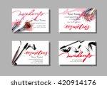 makeup artist business card.... | Shutterstock .eps vector #420914176